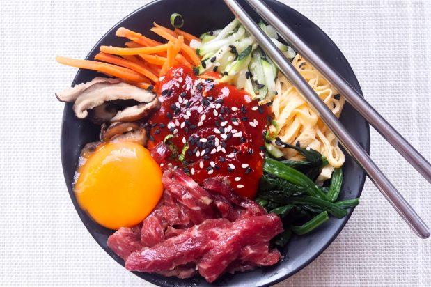 Korean Raw Beef Bibimbap