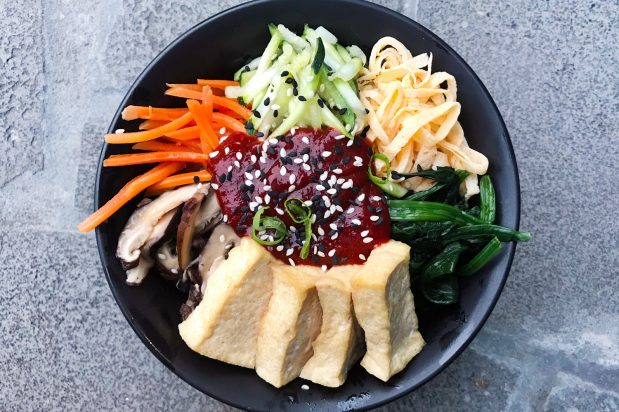Korean Tofu Bibimbap