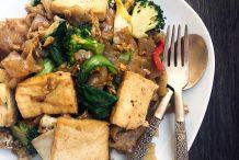 Thai Vegetarian Stir Fried Rice Noodles (Pad See Ew)