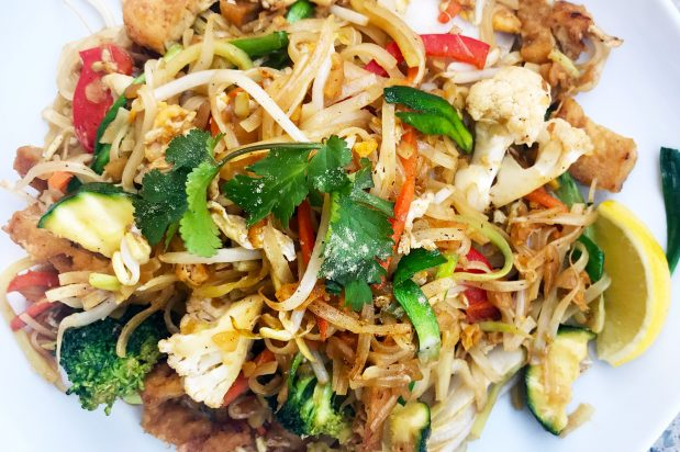 vegetarian pad thai recipe by Asian Inspirations