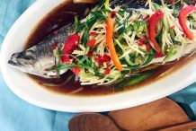 Thai Ginger Steamed Whole Fish (Pla Nung Khing)