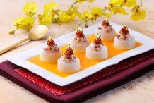 Radish Stuffed with XO Sauce Shrimp Paste in Crab Roe Sauce