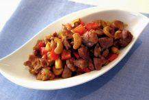 Spicy Stir-Fried Pork Dices with Cashew Nuts
