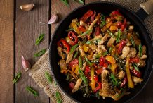 Stir Fried Chicken Fillet with Bell Capsicums
