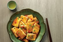 Pan Fried Tofu with Gluten Free Soy Sauce