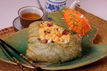 Steamed Rice in Lotus Leaf