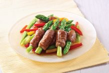 Pan Fried Asparagus and Beef Rolls