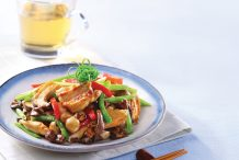 Stir Fried Chicken Fillets with Mixed Mushrooms