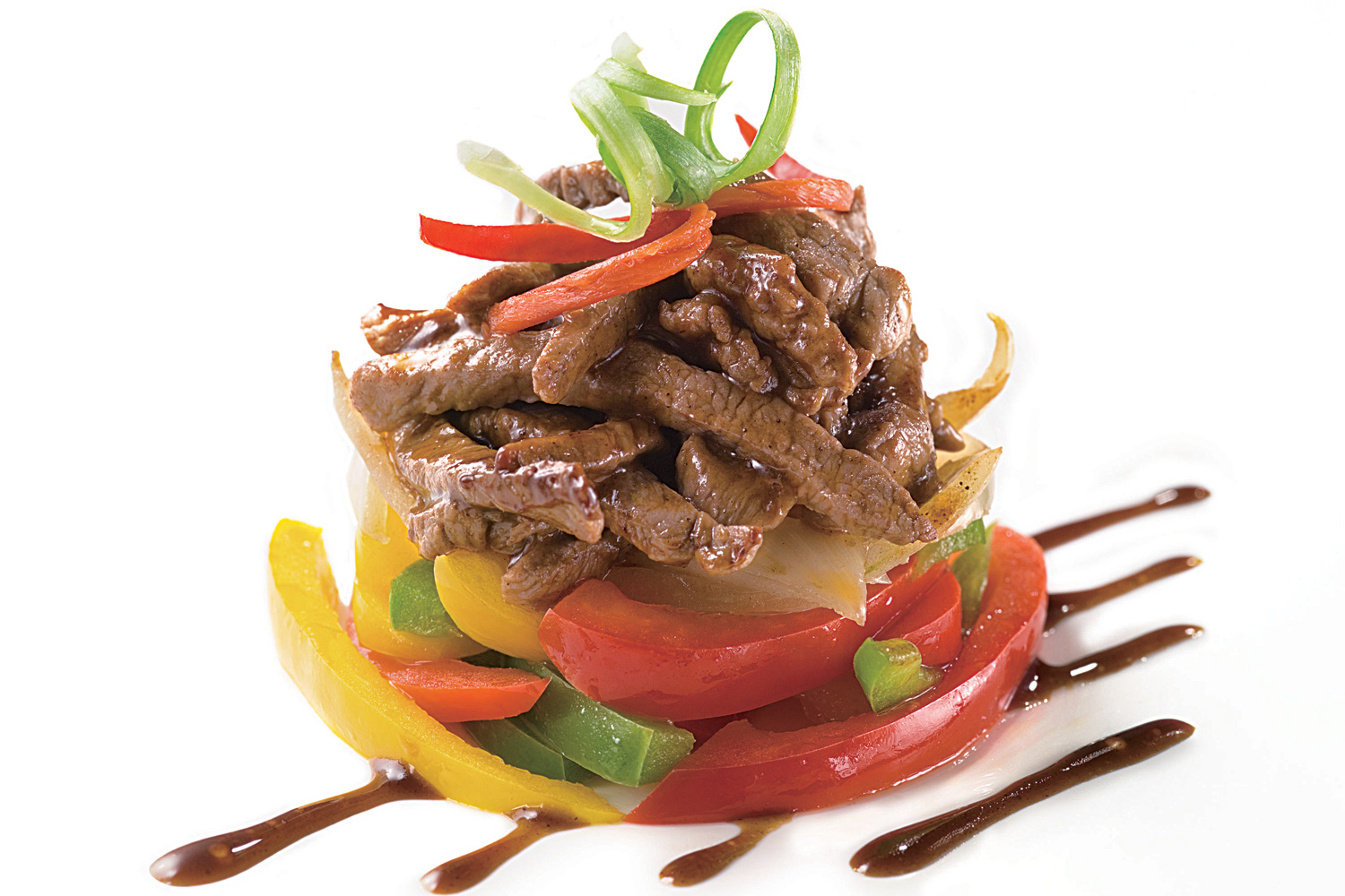 stir fried beef with assorted capsicums  asian inspirations