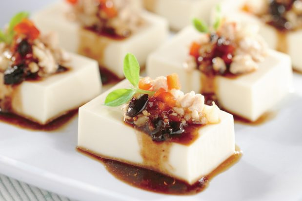 Steamed Tofu with Minced Pork