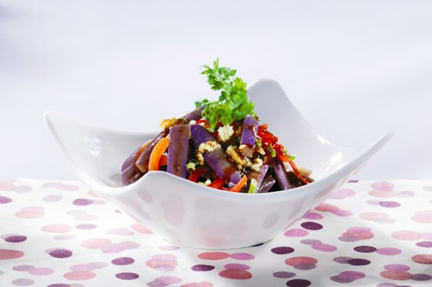 Cold Eggplants in Soy Sauce Dressing