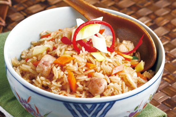Stir Fried Rice with Fish
