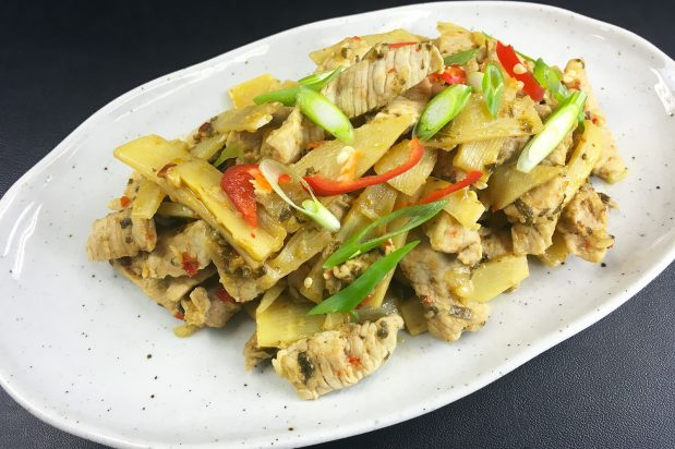Stir-Fried Bamboo Shoots with Pork
