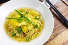 Noodle and Prawn Dumpling Soup