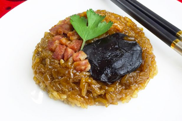 Glutinous Rice with Diced Chinese Pork Sausage