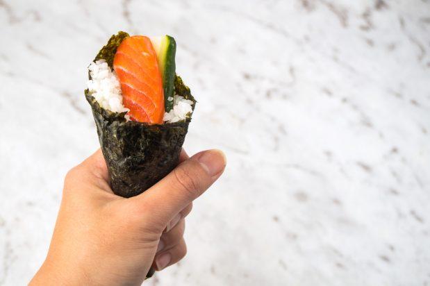Salmon Sushi Cones (Temaki)