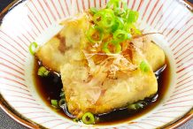 Deep Fried Soft Tofu in Soy (Agedashi Tofu)