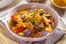 Sweet and Spicy Shrimp Eggplant Curry