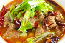 Simmered Beef in Hot Chilli Soup