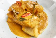 Fried Fish with Red Curry Sauce