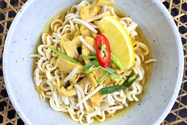 Quick Coconut Noodle Soup