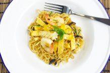 Indonesian Stir-Fry Seafood Noodle (Bakmi Goreng)