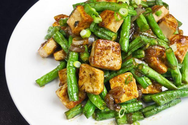 Tofu and Long Bean Stir-Fry