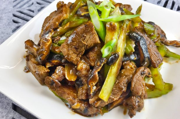 Beef with Black Bean and Chinese Celery