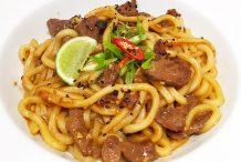 Stir-Fried Beef and Udon Noodles