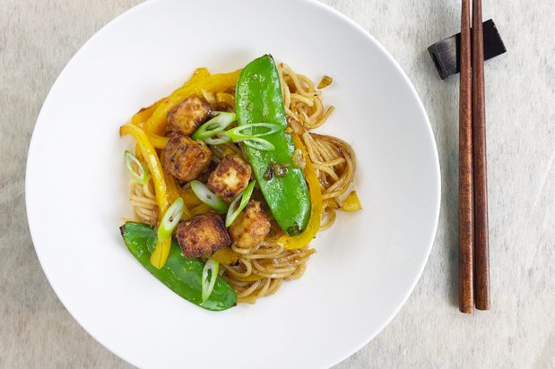 Ramen Noodles with Spiced Tofu and Chilli Lemon Sauce