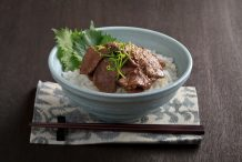 Japanese Wasabi Yakiniku Beef on Rice