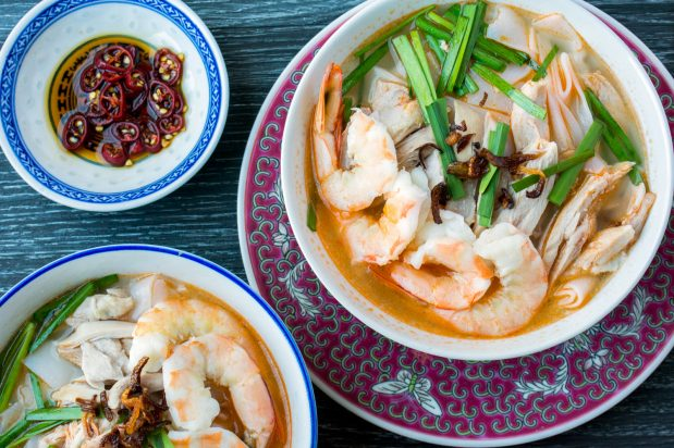 Ipoh Kuey Teow Soup (Kai Si Hor Fun)