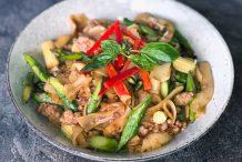 Drunken Thai Noodles (Pad Kee Mao)