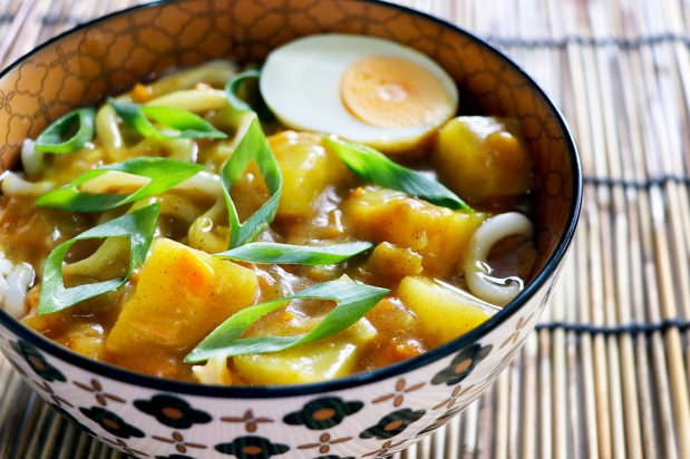 Vegetarian Curry Udon Noodles
