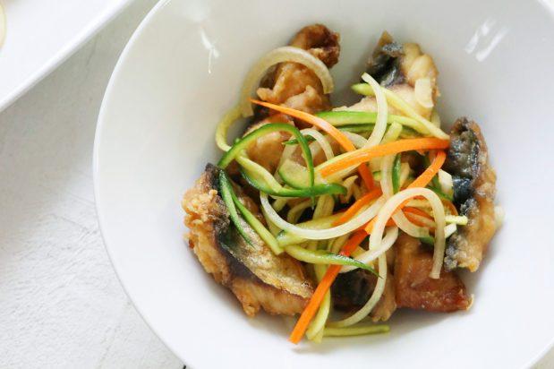 Japanese Marinated Fried Fish (Nanbanzuke)