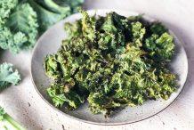 Kale Chips with Furikake Japanese Rice Seasoning