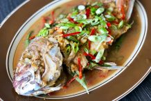 Soybean Paste Deep Fried Fish