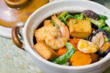 Claypot Seafood Tofu andVegetable