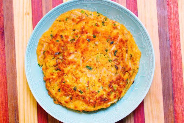 Savoury Mung Bean Pancakes (Nokdujeon)