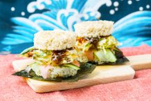 Vegan Tempura Sushi Burger