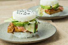 Vegan Tofu Sushi Burger