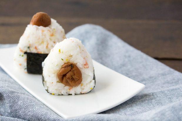 Japanese Pickled Plum Rice Ball (Umeboshi Onigiri)