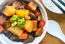Braised Beef with Radish and Carrot