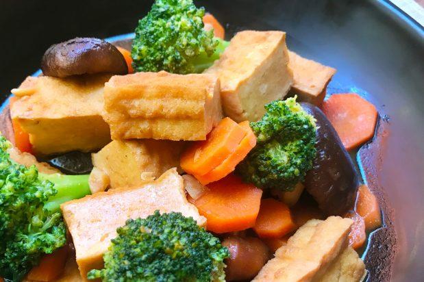 Braised Tofu with Mushrooms