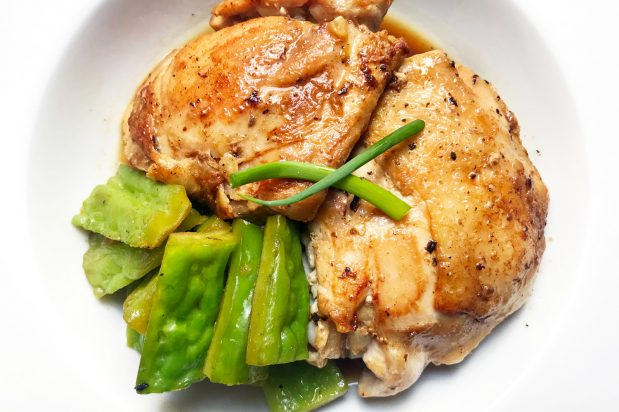Braised Chicken with Bitter Melon and Oyster Sauce