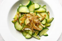 Stir Fried Cucumber with Dried Anchovies