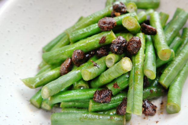 Long Beans with Homemade Sweetened Fermented Black Beans