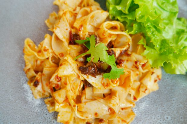 Knife-Cut Noodles Tossed with Homemade XO Sauce