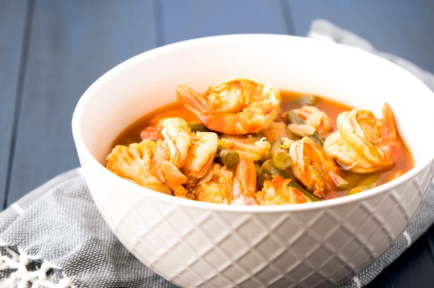 Southern Thai Sour Soup with Prawns (Kaengsom Kung)