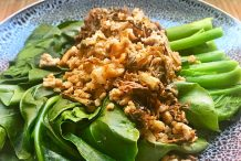 Chinese Broccoli with Minced Pork and Preserved Mustard
